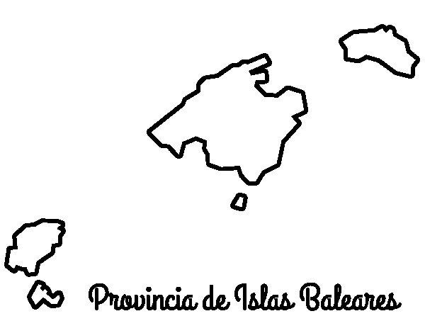 Dibujo de Provincia de las Islas Baleares para Colorear