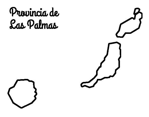 Dibujo de Provincia de Las Palmas para Colorear