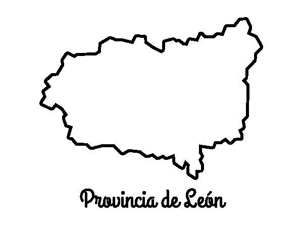 Dibujo de Provincia de León para Colorear