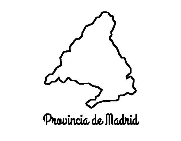 Dibujo de Provincia de Madrid para Colorear