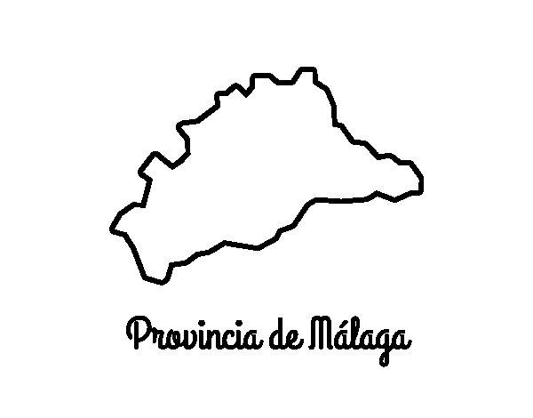 Dibujo de Provincia de Málaga para Colorear