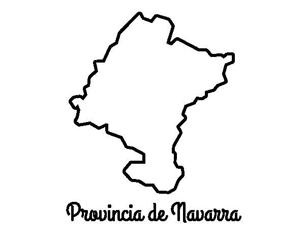 Dibujo de Provincia de Navarra para Colorear