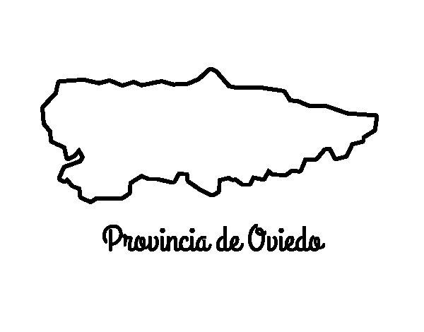 Dibujo de Provincia de Oviedo para Colorear