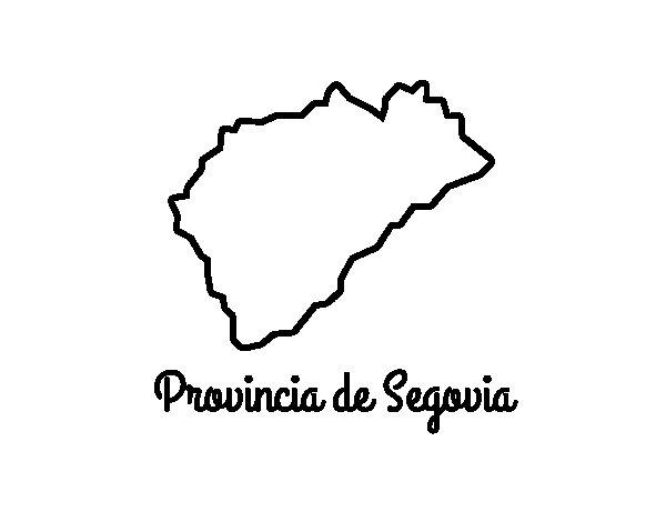 Dibujo de Provincia de Segovia para Colorear