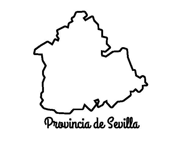 Dibujo de Provincia de Sevilla para Colorear