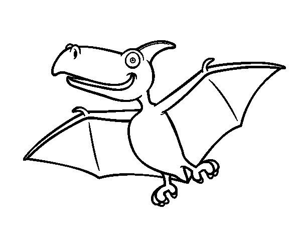 Dibujo de Pterodactylus para Colorear