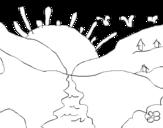 Dibujo de Puesta de sol para colorear
