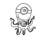 Dibujo de Pulpo Minion para colorear