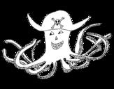 Dibujo de Pulpo pirata