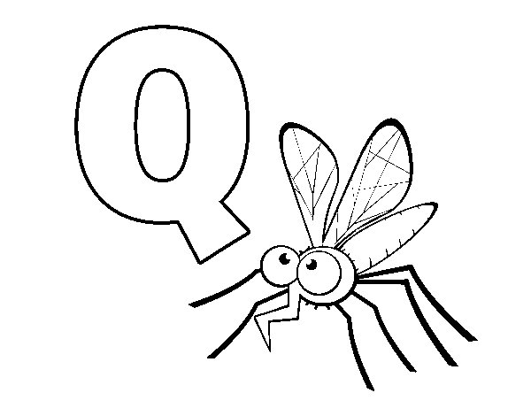 Dibujo de Q de Mosquito para Colorear