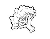 Dibujo de Rama de brócoli para colorear