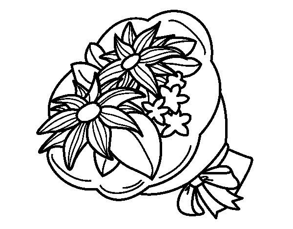 Dibujo de Ramo de crisantemos para Colorear