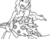 Dibujo de Ramo de flores 2 para colorear