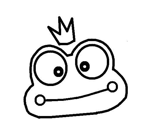 Dibujo de Rana 2 para Colorear