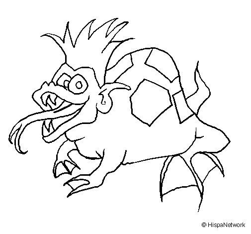 Dibujo de Rana metamorfosis para Colorear