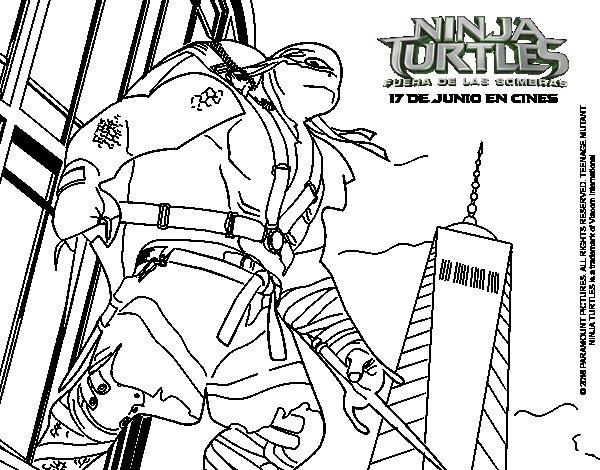 Dibujo de Raphael de Ninja Turtles para Colorear