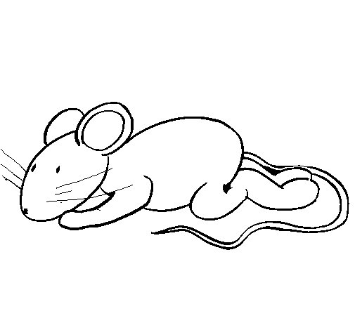 Dibujo de Ratita  para Colorear