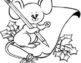 Dibujo de Ratón con lapiz y papel para colorear