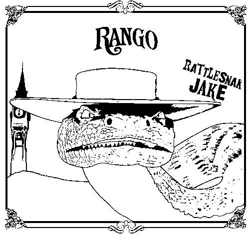 Dibujo de Rattlesmar Jake para Colorear