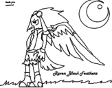 Dibujo de Raven Black para colorear