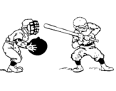 Dibujo de Receptor y bateador para colorear