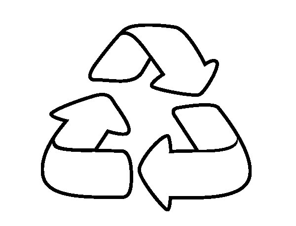 Logotipo De Reciclaje Para Colorear Brain City