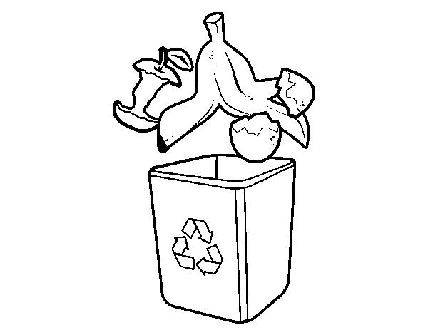 Dibujo de reciclaje org nico para colorear for Suelo organico dibujo animado