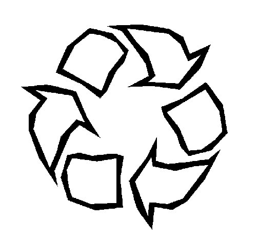 Dibujo de Reciclar para Colorear