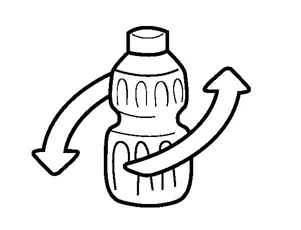 Dibujo de Reciclar envases para Colorear