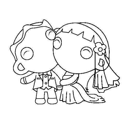 Dibujo de Recién casados III para Colorear