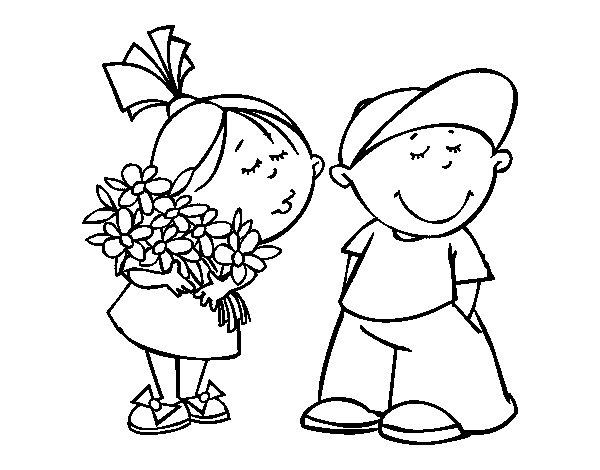 Dibujo de Regalo por San Valentín para Colorear