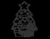 Dibujo de Regalos de Navidad 2 para colorear