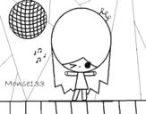 Dibujo de Reina Disco para colorear