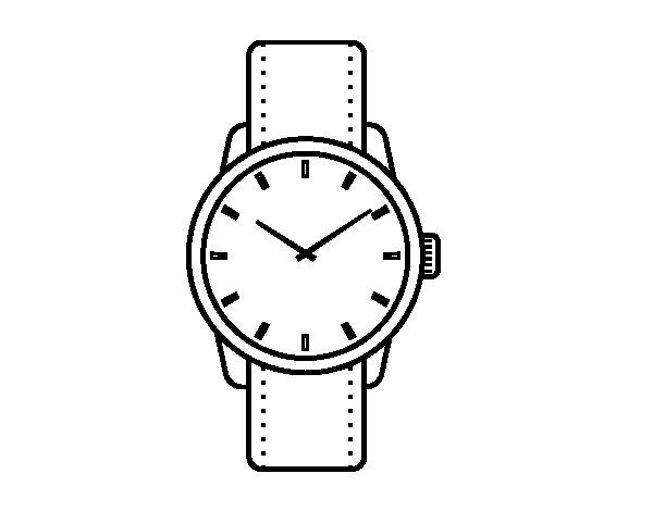 Dibujo de reloj de pulsera para colorear - Dibujos de relojes para imprimir ...