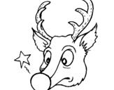 Dibujo de Reno y una estrella para colorear