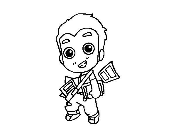Dibujo de Repartidor para Colorear