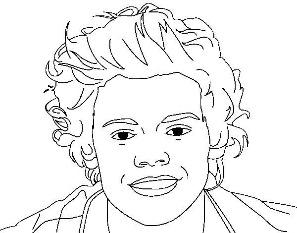 Dibujo de Retrato de Harry Styles para Colorear