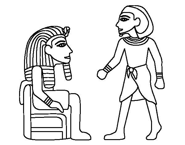 Dibujo de Reyes egipcios para Colorear