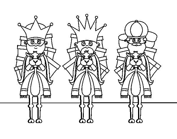 Dibujos Para Colorear De Los Tres Reyes Magos: Dibujo De Reyes Magos En Camello Para Colorear