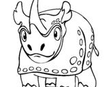 Dibujo de Rinoceronte 4 para colorear