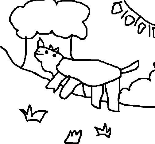 Dibujo de Rinoceronte 5 para Colorear