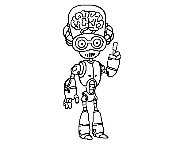 Dibujo de Robot cerebrito para Colorear