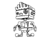 Dibujo de Robot con cresta para colorear