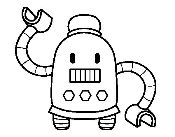 Dibujo de Robot con largos brazos para Colorear