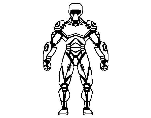 Dibujo de Robot de Cara para Colorear  Dibujosnet