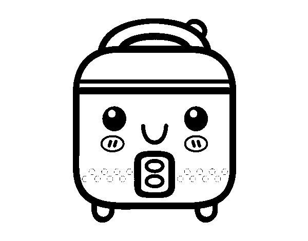Dibujo de robot de cocina para colorear for Dibujos de cocina