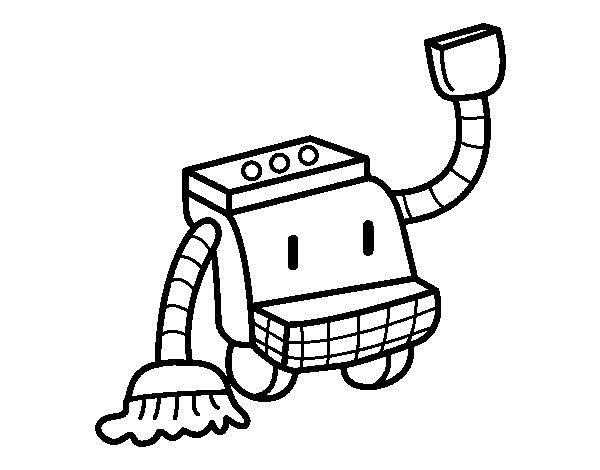 Dibujo de Robot de limpieza para Colorear