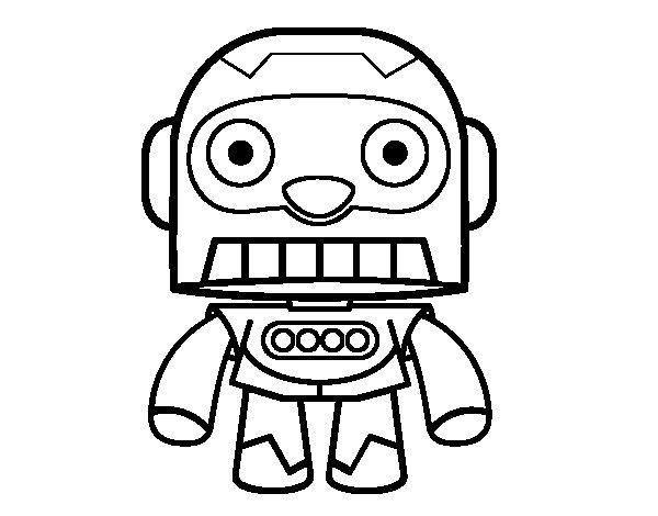 Dibujo de Robot galáctico para Colorear