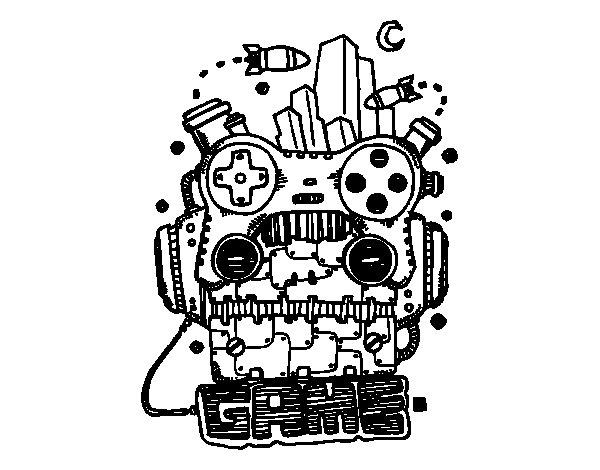 Dibujo de Robot game para Colorear
