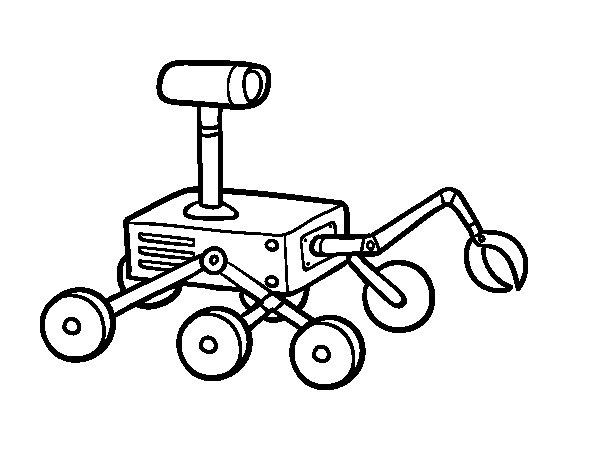 Dibujo de Robot lunar para Colorear